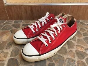Converse All Star Red Low Chuck Taylor Men's Size 10/UK 9 Made in USA