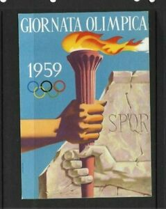 Italy 1959 Olympic Games postcard with special cancel
