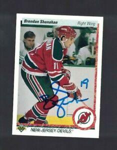 Brendan Shanahan New Jersey Devils 1990-91 Upper Deck Signed Card W/Our COA