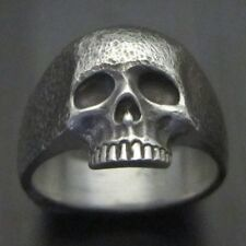 MJG STERLING SILVER KR SKULL RING. STREET FIN. SZ 10 1/4. KEITH RICHARDS. SLASH