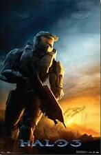 """4 BRAND NEW 22 1/2"""" X 34"""" HALO POSTERS*LOGO*HUMANITY*DAWN*COVENANT*FREE SHIPPING"""