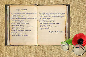 Rupert Brooke The Soldier First World War poetry poem A5/A4 canvas Print