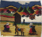 Peruvian Wool Tapestry Hand Woven Small 18 x 16 in (Wall Hanging)