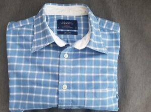 "🔥🔥 CHARLES TYRWHITT WEEKEND SHIRT Slim Fit Cotton Blue Check M 44"" Chest VGC"
