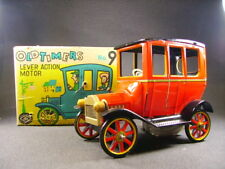 Masudaya oldtimers N°9 wind-up mechanical tin toy tacot (made in Japan) + box