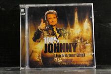 Johnny Hallyday - 100% Johnny Live à La Tour Eiffel     2 CDs