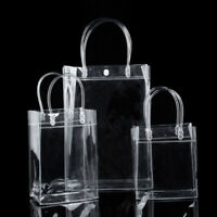 1 pc Clear Tote Bag PVC Transparent Shopping Bag Handbag Storage Gift Bag