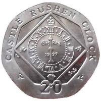 20P IOM ISLE OF MAN CASTLE RUSHEN CLOCK COINS AA AB BA CA TWENTY PENCE 2007-2016