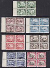 Aden - SG 16/22 x 4 1/2a - 3as - u/m - 1939/48 K.G.Vl 7 blocks of 4