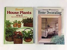 Sunset Softcover Book Lot House Plants A to Z - Ideas for Great Home Decorating