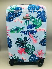 Tommy Bahama Michelada Blue Frond Carryon Spinner Hardside Suitcase Luggage 20""