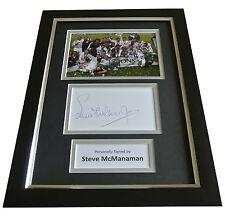 Steve McManaman Signed A4 FRAMED Photo Autograph Display Real Madrid & COA