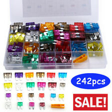242pcs MINI Blade Fuse Assortment Auto For Car Motorcycle SUV FUSES Kit APM ATM