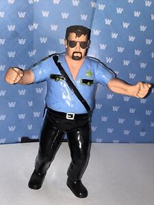 WWF LJN BLACK CARD BIG BOSS MAN - WWF LJN BIG BOSS MAN - VINTAGE TITAN SPORTS