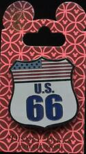 New Route 66 Sign Shield American Flag Disney Pin