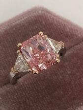 GIA CERTIFIED 4.14 CT VS1 RADIANT PINK DIAMOND ENGAGEMENT RING 18K WHITE GOLD