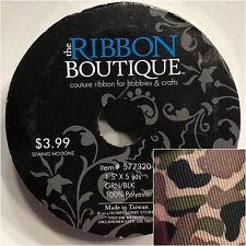 "New 1.5"" x 5 YARD Roll Grosgrain Ribbon Hair Bow Crafts 577320 Camo"