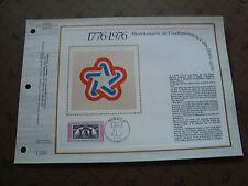 MONACO - documento CEF 1° giorno 3/5/1976 (indipendenza di stati uniti)