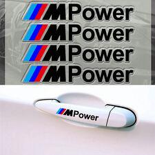 4 Black M Power Door Handle Sticker Sport Badge Dashboard For BMW M3 M5 5 Series