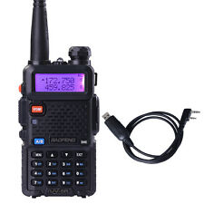 BAOFENG UV-5R Dual Band UHF/VHF Two Way Ham FM Radio+Program Cable Walkie Talkie
