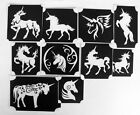 bm2017 set unicorns designs GLITTERTATTOO 10 different stencils glitter tattoo