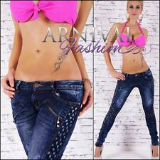 STRETCH JEANS 6 8 10 12 14 WOMENS BLUE DENIM PANTS LADIES skinny hotpants RIPPED