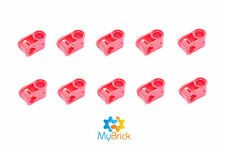 10x Lego Red Axle and Pin Connector Perpendicular - 6536 - Postage