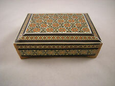 Persian Khatam Jewelry Card Trinket Gift Box Wooden Handcraft Inlaid Islamic Art