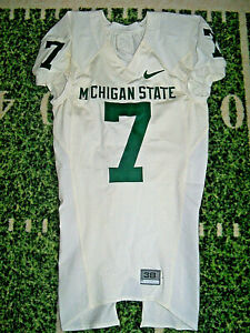 VTG Nike Michigan State Spartans Team Issued For Game Use Football Jersey SEWN!!