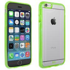 Tasche für Apple iPhone 6 Hülle Schutz Case Bumper Handy Cover transparent grün