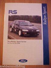 Ford Rallye Sport Series For Escort RS2000 Folder 1992