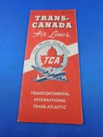TRANS CANADA AIRLINES TIMETABLE SCHEDULE MAPLE LEAF ROUTE 1948 TRANSCONTINENTAL