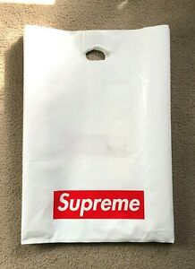 Supreme New York White Big Shopping Plastic Bag Red Box Logo *SHIPS ASAP*