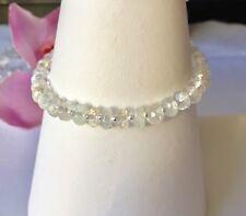Handmade Genuine Gemstone Jewellery, Topaz Sterling Silver Bracelet.