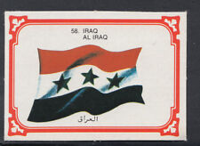 Monty Gum 1980 Flags Cards - Card No 58 - Iraq (T619)