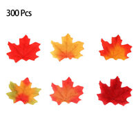300Pcs Artificial Fall Silk Leaves Wedding Autumn Maple Leaf Party Decor