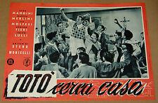fotobusta film TOTO' CERCA CASA - Totò Alda Mangini Steno Monicelli 2a ed. 1955
