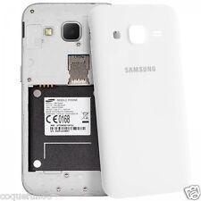 Cache Batterie Samsung Galaxy Grand Prime ( G 530 ) Blanc + Verre Trempé