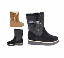 NEW Australia Luxe Collective Warm Bushmill Buckle Sheepskin Fur Boots Shoes