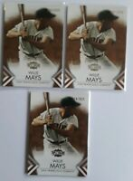 (3) 2012 Topps Triple Threads Willie Mays Sepia Parallel Insert Card Lot S# /625