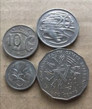 ⚡1982 Australian 50 Cent, 20 Cent, 10 Cent, 5 Cent Coin Set Of 4 🇦🇺FREE Post💰