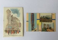 lot of (2)Hotel Chicagoan, Chicago,  W/ Stamp dated 1943 & 1955 (1) cent