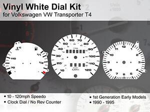 VW Transporter T4 (1990 - 1995) Early Models - 120mph NR - Vinyl White Dial Kit
