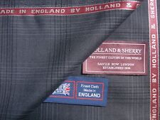 Holland & Sherry WOOL & SUMMER KID MOHAIR SUITING FABRIC-1.76 m.+1.4 m.)= 3.16 m