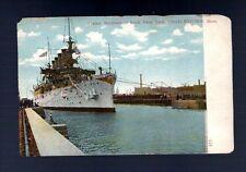 USA CRUISER MARYLAND POSTCARD Navy Yard Charleston mas Flag ship vintage antique