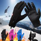 Men Winter Touch Screen Windproof Waterproof Outdoor Sport Driving Gloves 3Color
