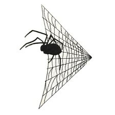 ID 0923 Spider In Web Patch Halloween Decoration Embroidered Iron On Applique