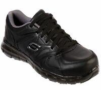 Skechers Wide Width Work Shoes Women Memory Foam Slip Resistant Alloy Toe 76553
