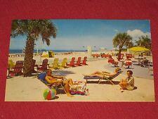 1971 Sunbathing in Florida on Treasure Island's fabulous beach Postcard #G-19A