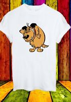 Muttley Dog Smile Mumbly Wacky Races Funny Cartoon Men Women Unisex T-shirt 836